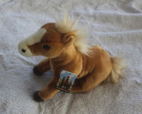 "Palomino Horse Cuddly toy 12"" from the Sawley Fine arts collectable range"